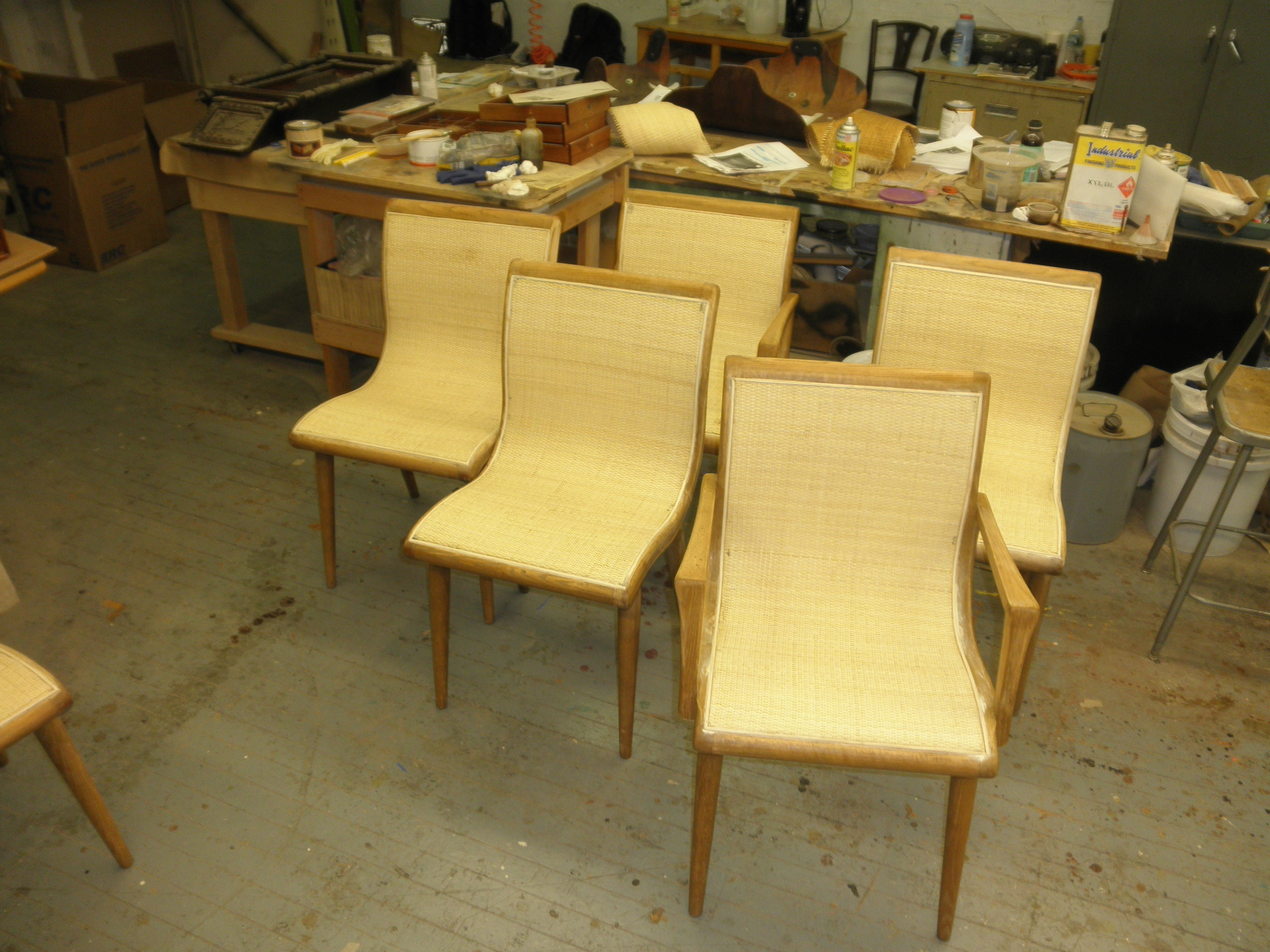 Chairs DURING restoration