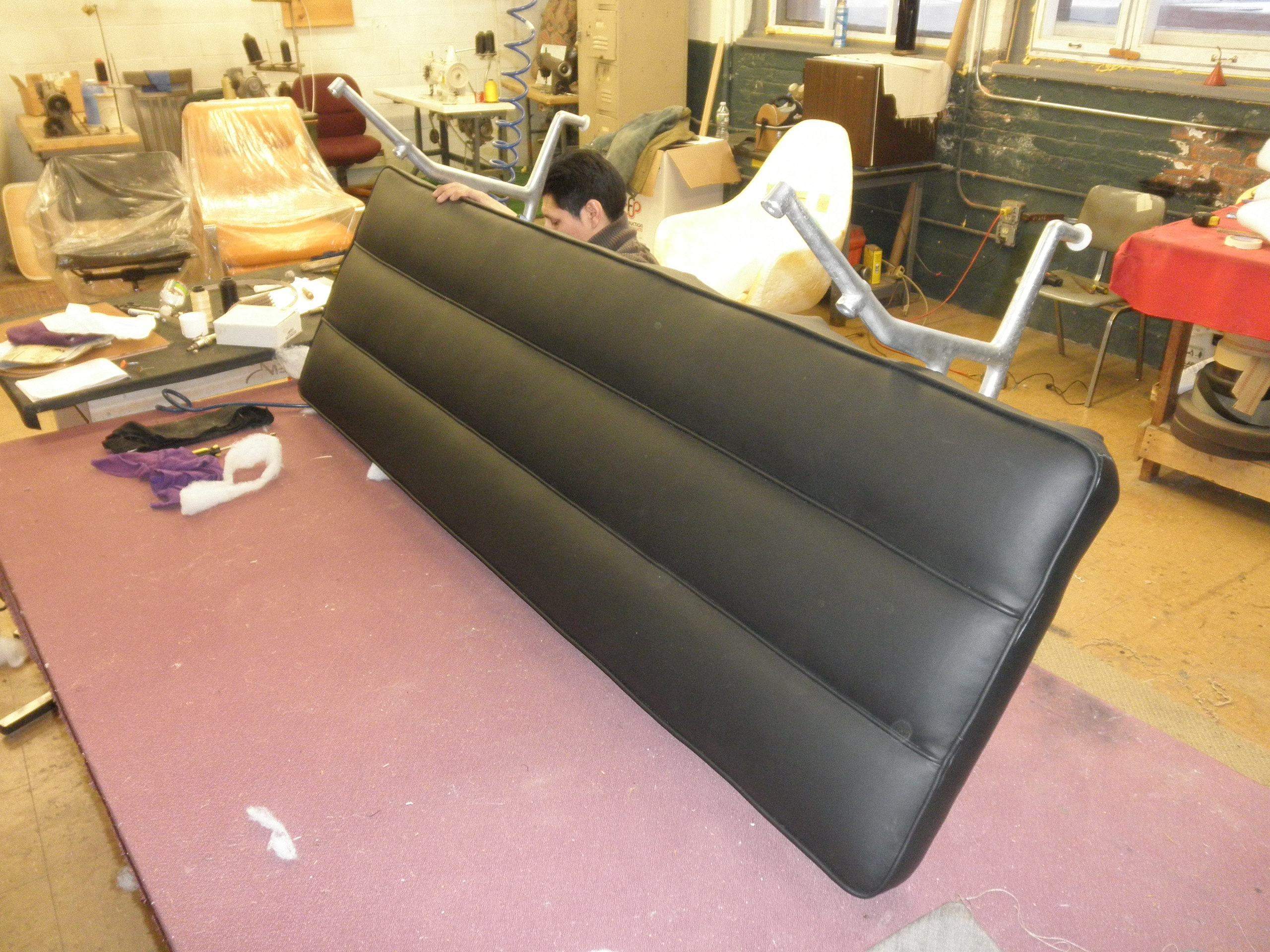Back cursion upholstery during for Modern Eames Sofa