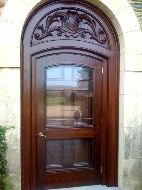 Carved Oak Door Refinishing AFTER ...