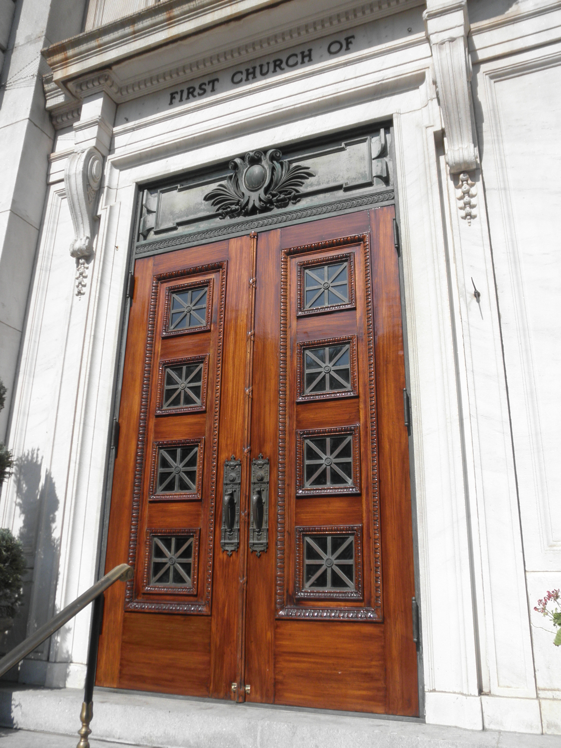 Original chestnut & walnut doors had been abused by previous restorations