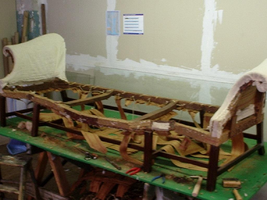 Antique Furniture Restoration for American Queen Anne Period Sofa ...
