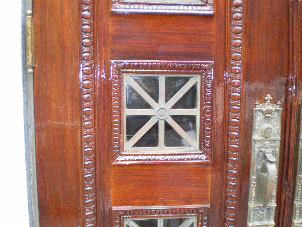 Detail of Doors after being restored and refurbished, NYC