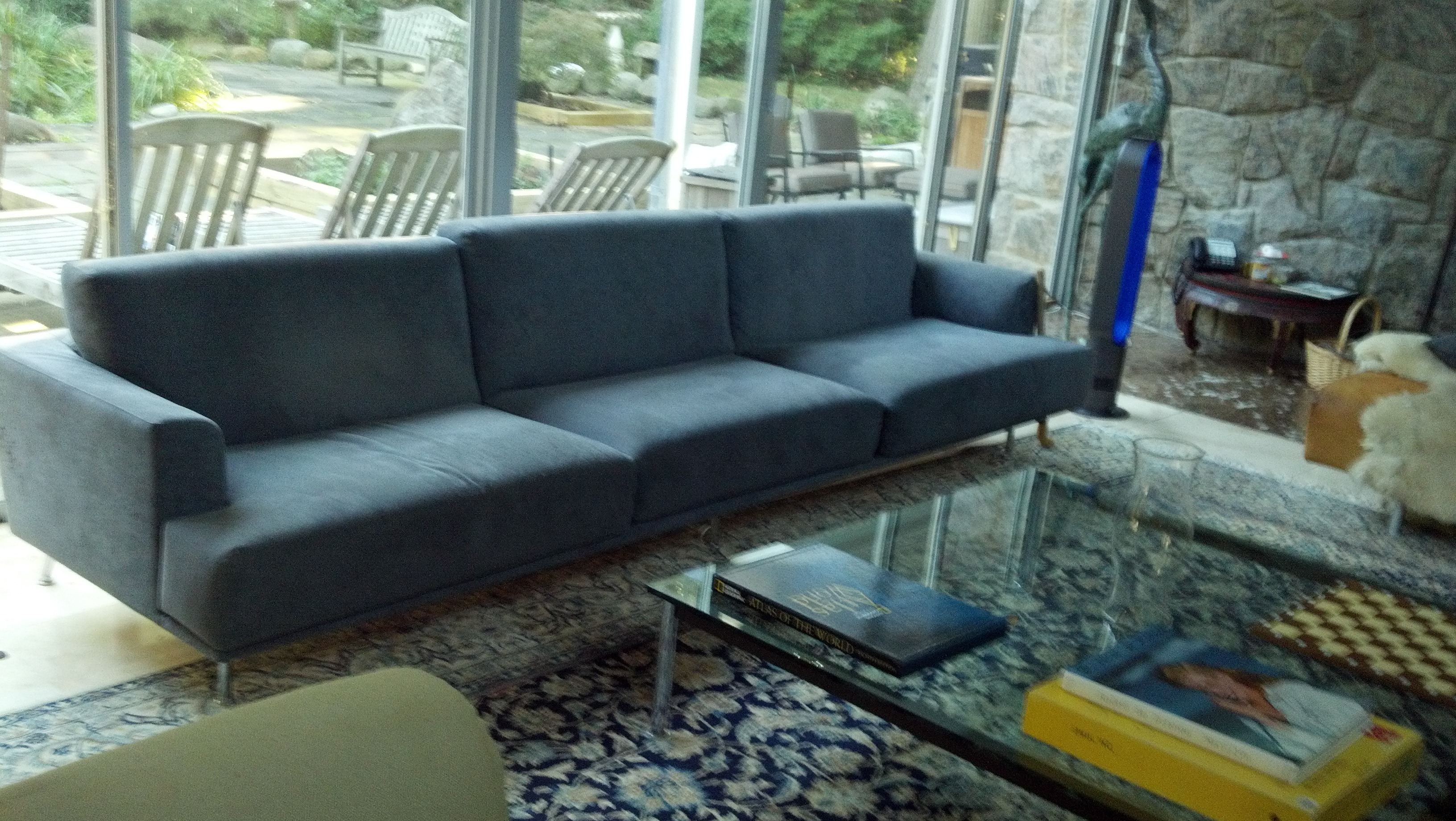 Long Sofa Reupholster BEFORE