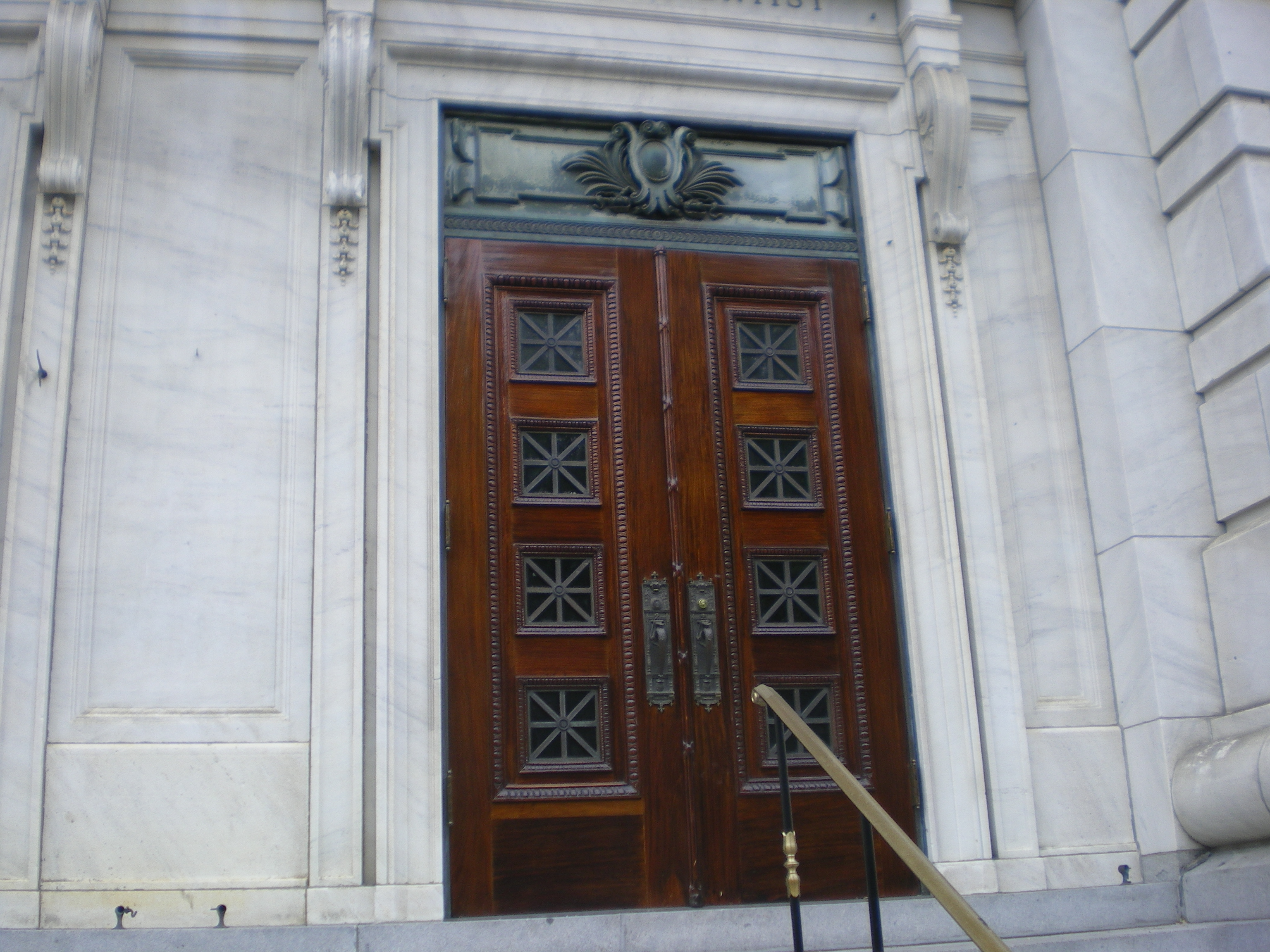 Mahogany Double Door Preservation- Repair & Refinishing-after