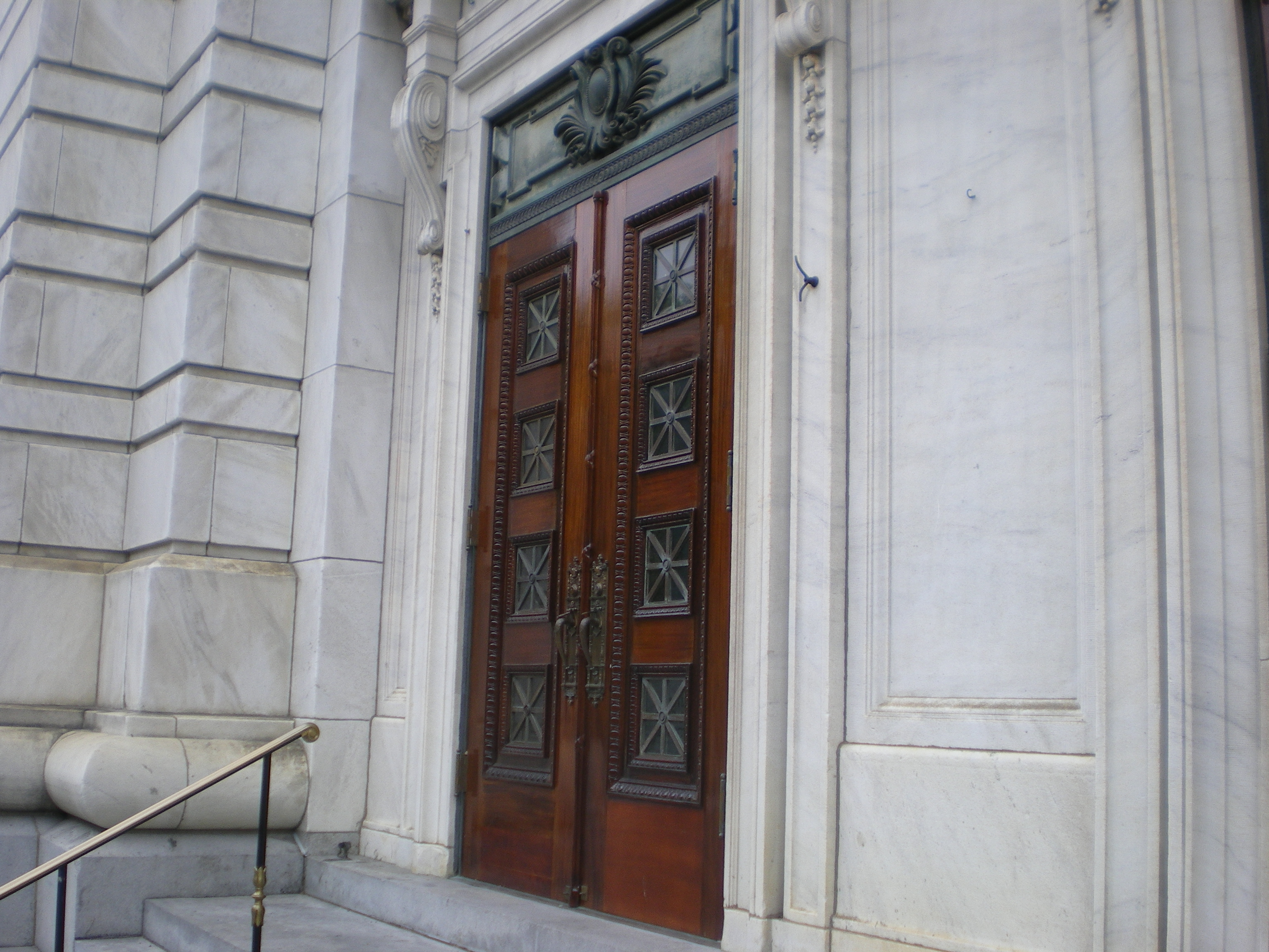First Church of Christ Scientist double Mahony Doors after restoration