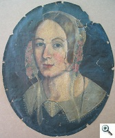 Oil Painting Portrait Conservation of Polychrome Painting on Canvas Before