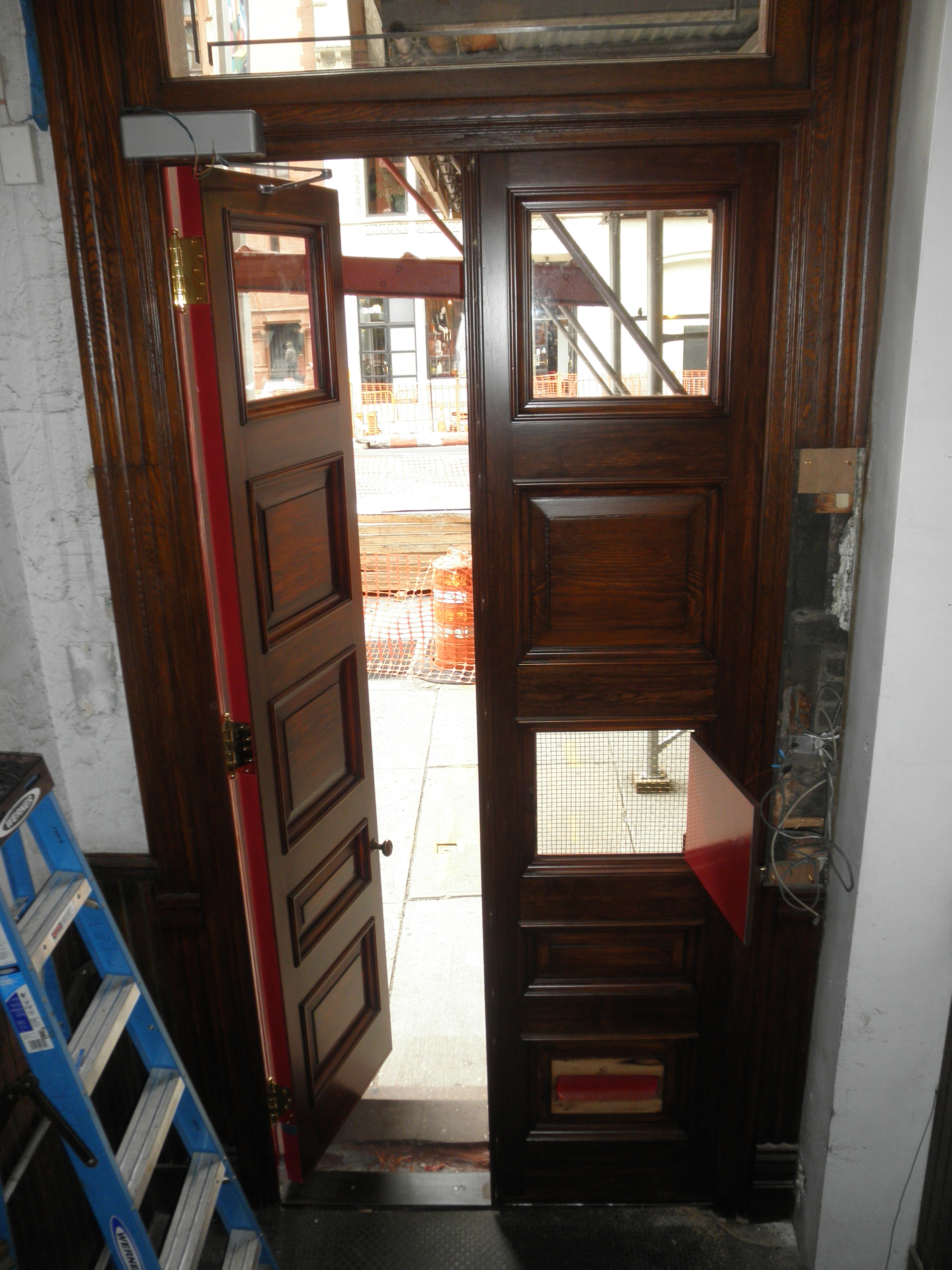 Front doors AFTER restoration from the inside