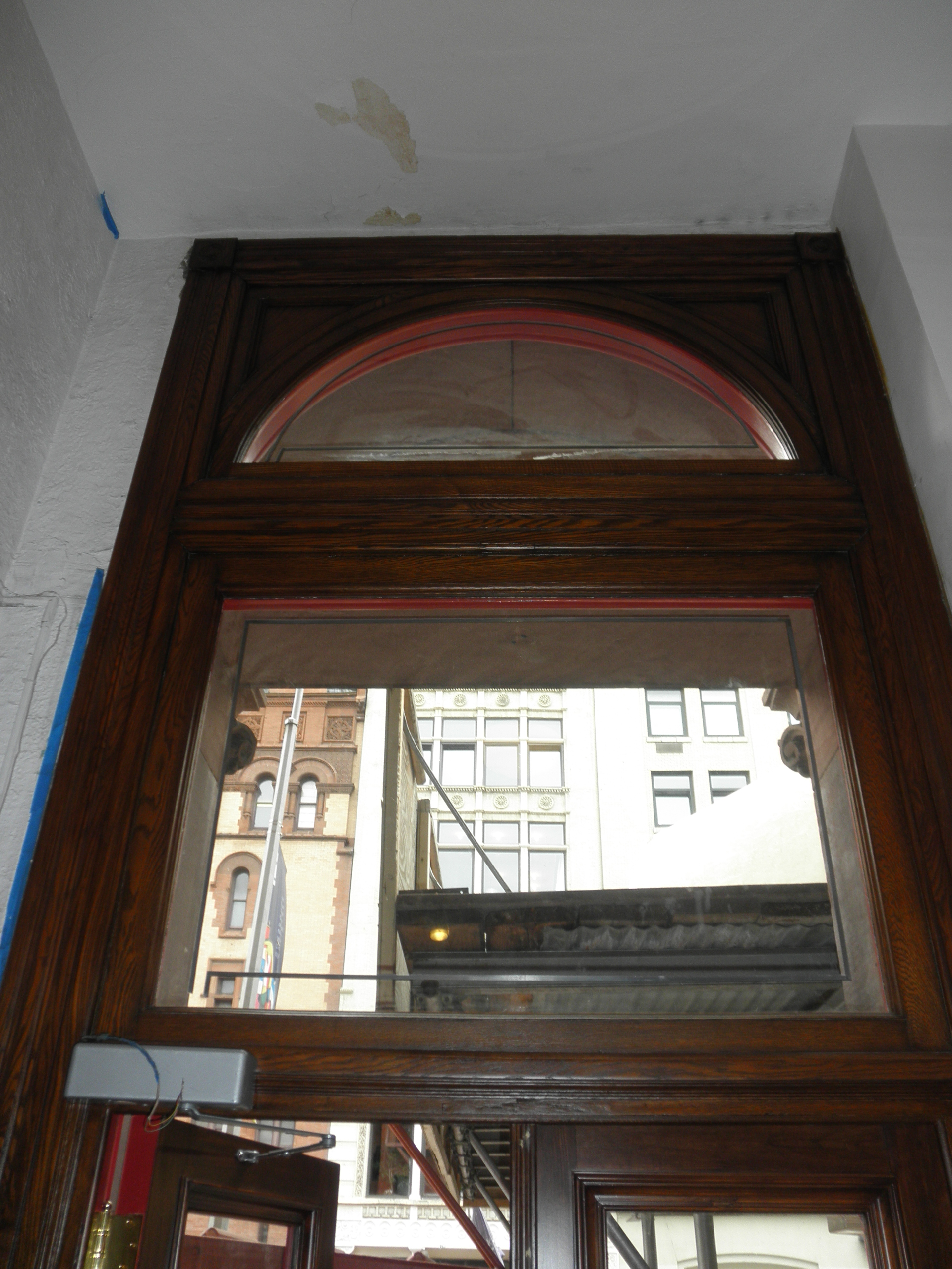 Front doors DURING restoration from the inside