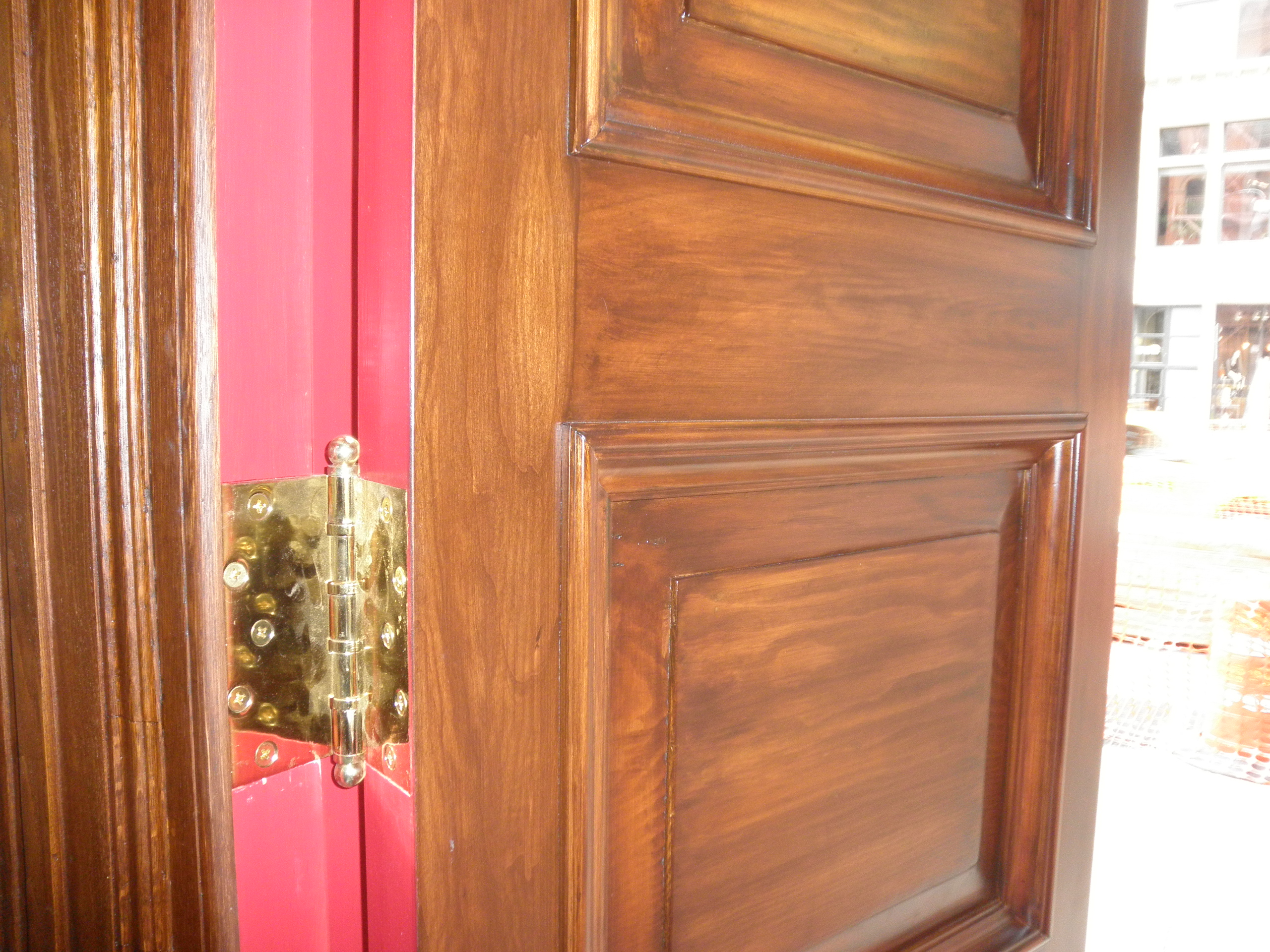 Door detail AFTER restoration and refinishing