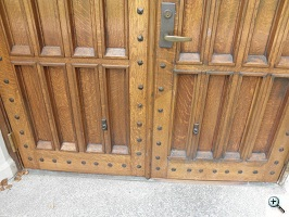 Detailed of door after restoration