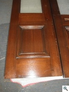 Restoration of Walnut Brownstone Entry Doors After