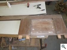 Restoration of Walnut Brownstone Entry Doors