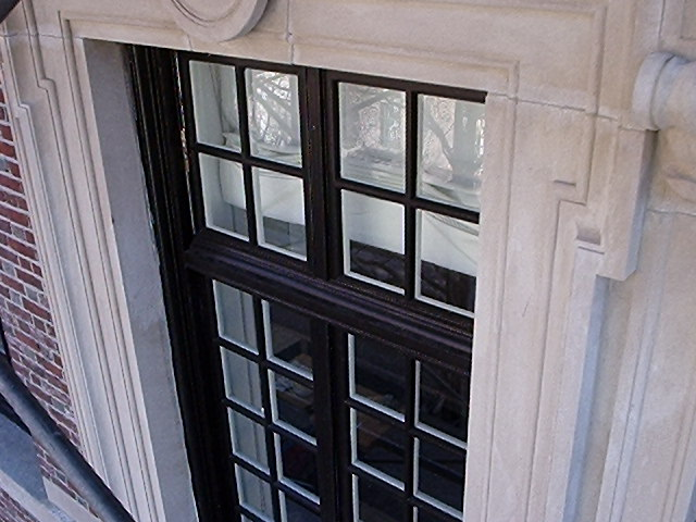 The principal replacements were for the drip edge moldings on the outside of the sashes.