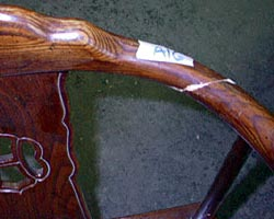 Rebuilt joinery of these mahogany Oriental caned armchairs
