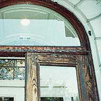 SMITHSONIAN CARVED OAK DOOR RESTORATION BEFORE