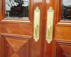 Custom Mahogany Door Transom Detail