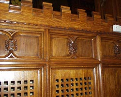 OAK PANELING RESTORATION BEFORE