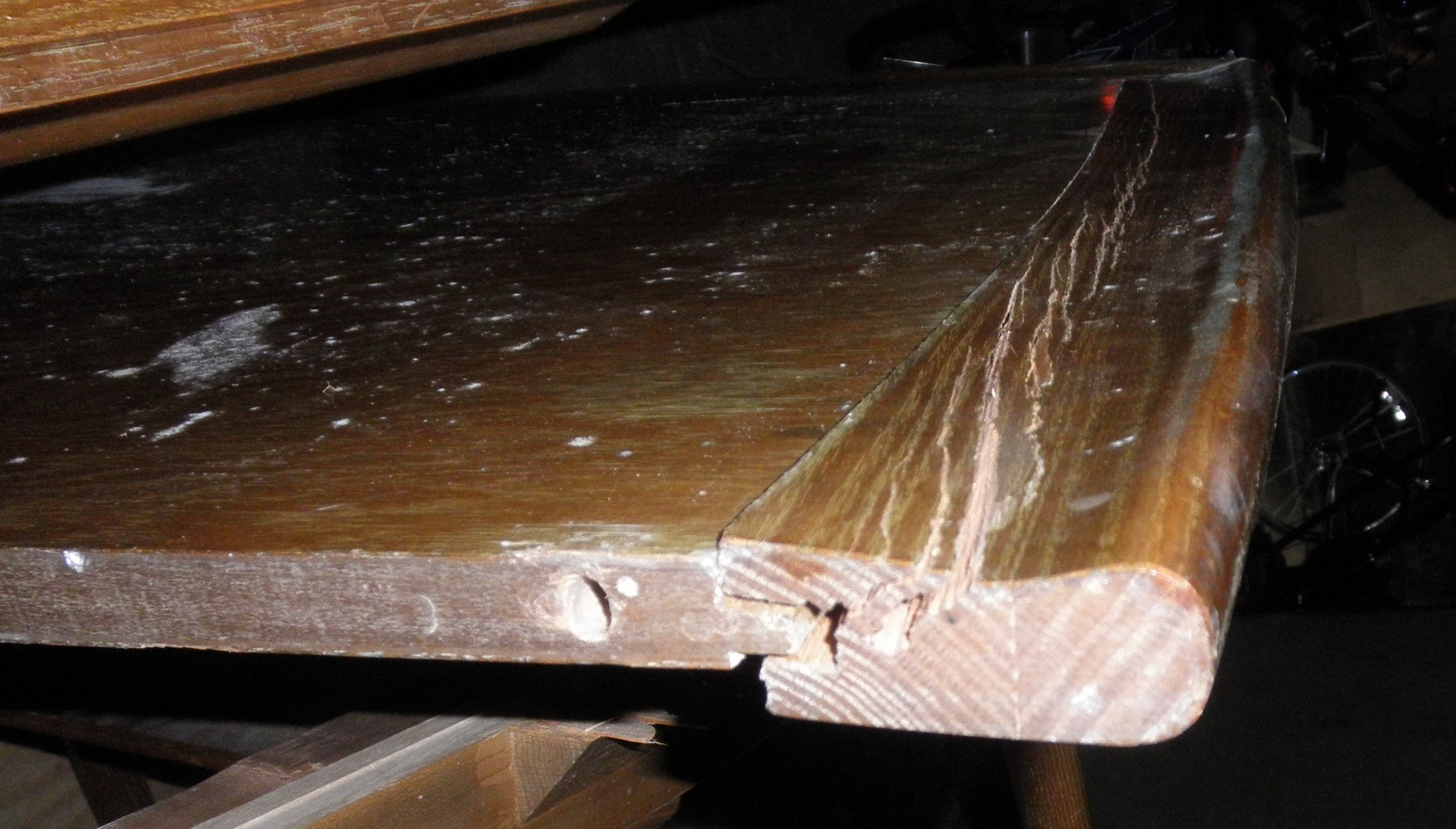 Furniture Repair Dining Table Shattered By Large Oak Tree