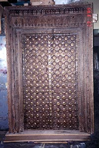 Studying the intricate workmanship of this double door, with an opening only 4'x 6'H, with 288 separate carved panels is inspirational.