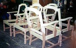 Chairs durin restoration