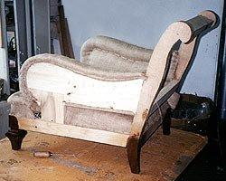 Side angle of chairs during restoration, New York City