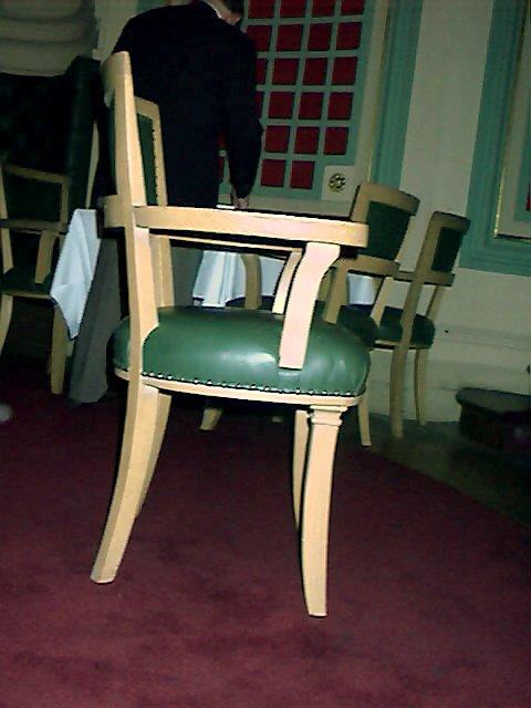 Side angle of chair after restoration